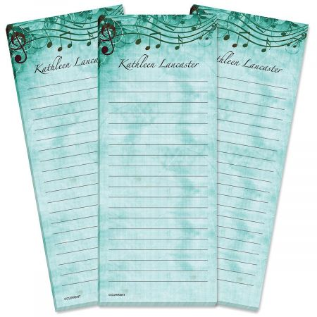 Sheet Music Aqua Lined Shopping List Pads