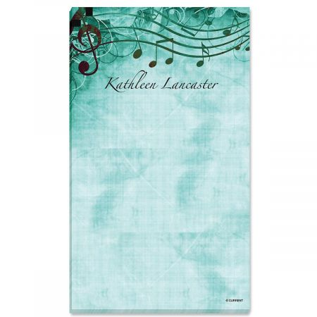 Sheet Music Aqua Personalized Notepads