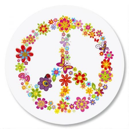 Peace Sign Envelope Sticker Seals