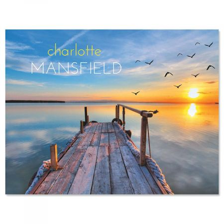 Dockside Personalized Note Cards