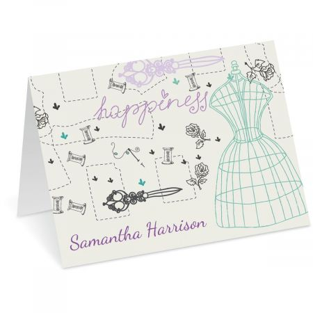 Sew Happy Personalized Note Cards