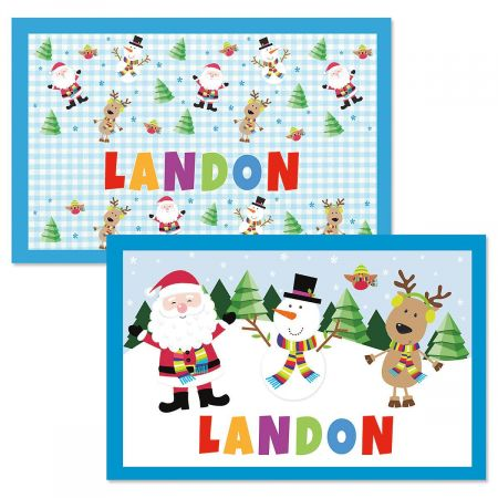 Personalized Kids Christmas Placemat