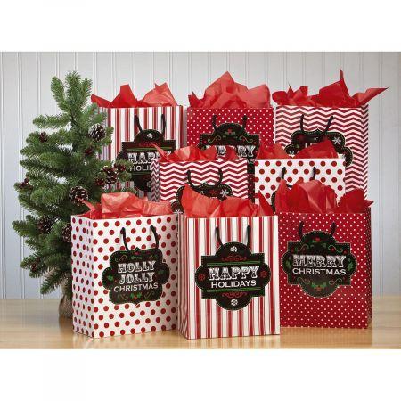 Christmas Chalkboard Gift Bags