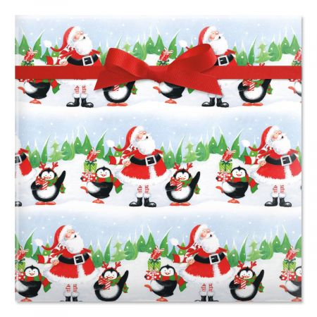 Jolly Friends Jumbo Rolled Gift Wrap