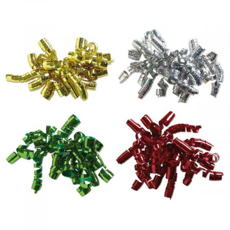 Metallic Curly Bows