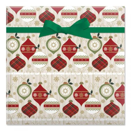 Birchwood Baubles Jumbo Rolled Gift Wrap