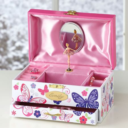 Butterfly Wind-Up Personalized Music Box