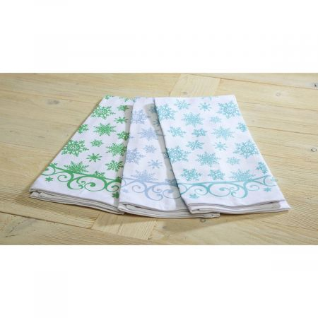 Frosty Snowflakes Hand Towels