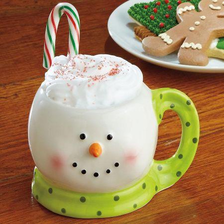 Green Scarf Snowman Mug