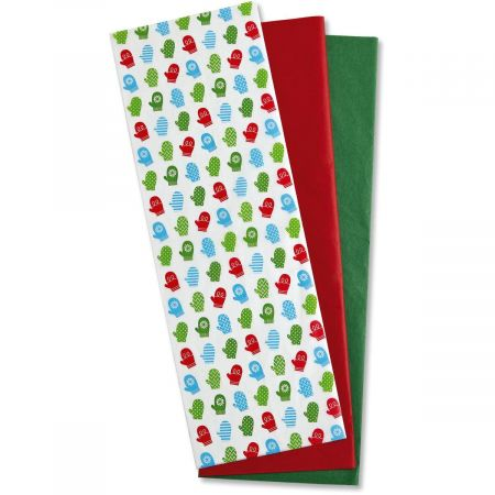 Colorful Mittens Tissue Sheets