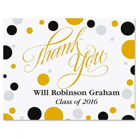 Grad Dots Graduation Thank You Note Cards