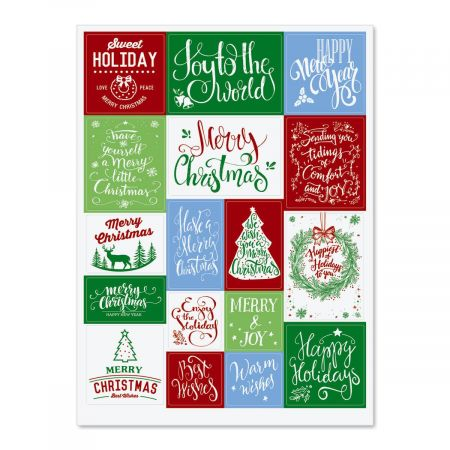 Christmas Lettering Stickers