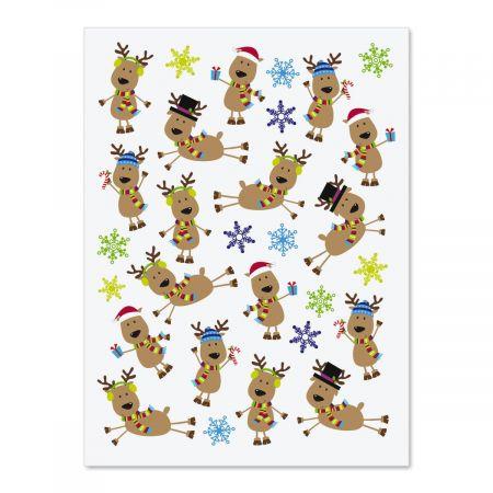 Funny Reindeer Stickers