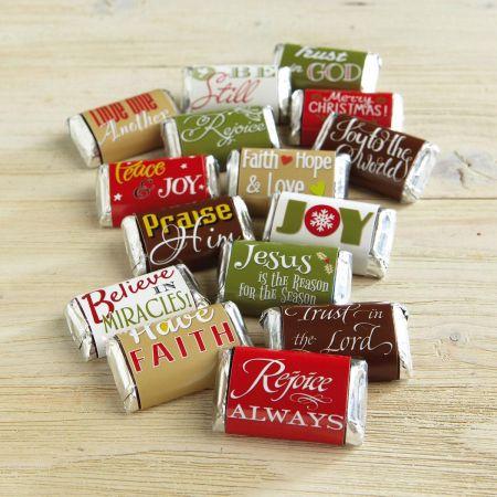 Faith Holiday-Themed Candy Bar Wrappers