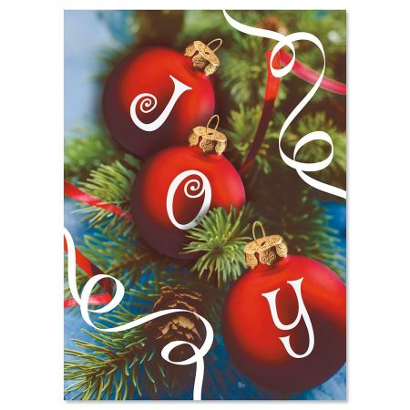 Ornament Joy Christmas Cards