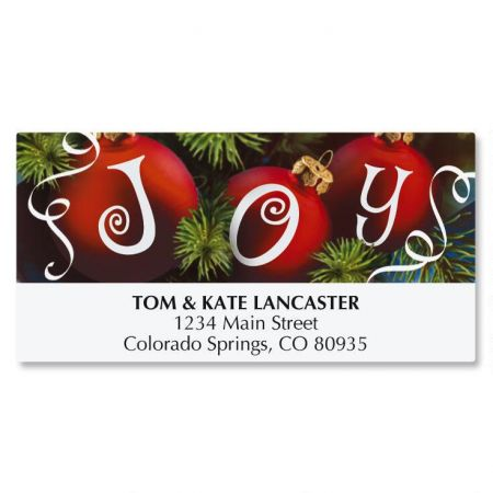 Ornament Joy Deluxe Address Labels