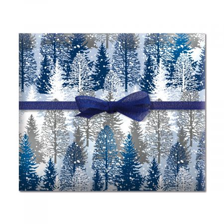 Snowmen Friendly Chat Jumbo Rolled Gift Wrap