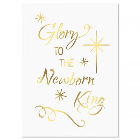 Glory Newborn King Deluxe Foil Religious Christmas Cards