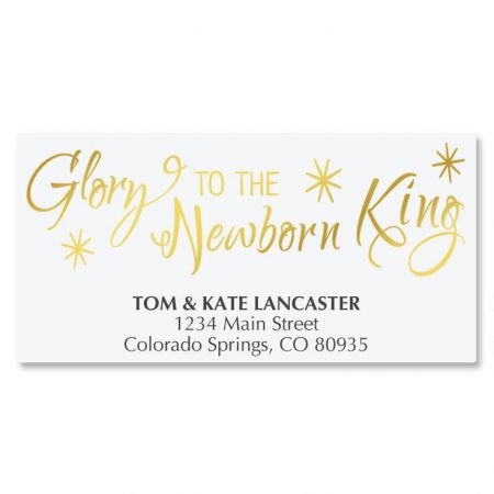 Glory Newborn King Deluxe Address Labels