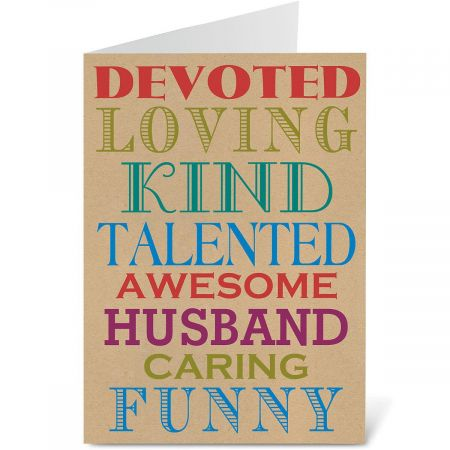 Typography Father's Day Card