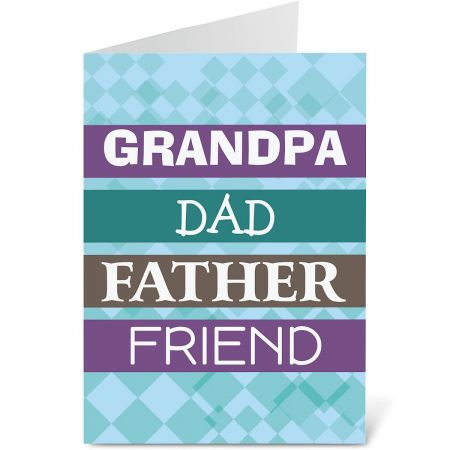 To Grandpa on Father's Day Card