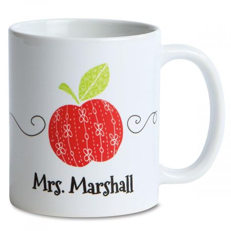 Personalized Teacher Mug Matches Note Pads (615212) & Note Cards (615213). Ceramic; 11 ounces. Microwave/dishwasher safe; hand washing recommended. Specify name up to 18 characters