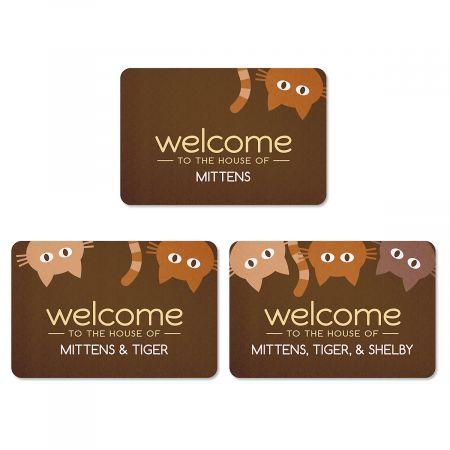 Cat Personalized Welcome Doormat