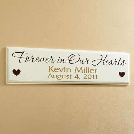 Forever in Our Hearts Personalized Wooden Plaque