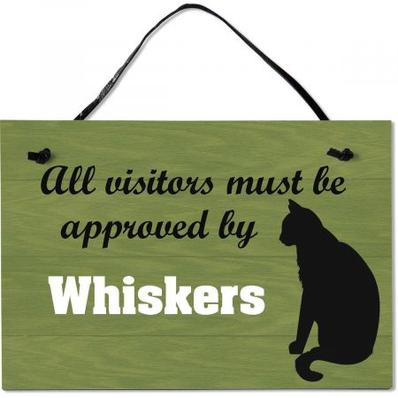 Visitors Approved Personalized Wooden Pet Plaque
