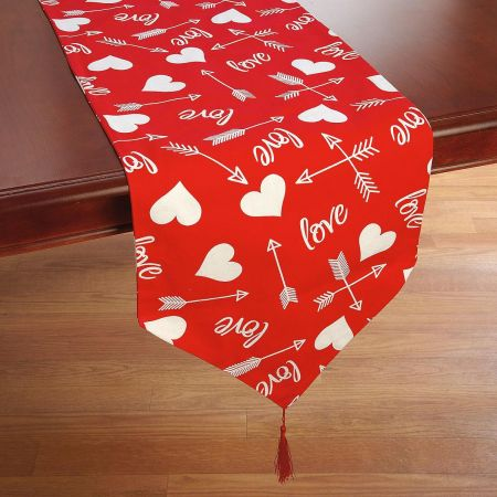 Printed Hearts Table Runner
