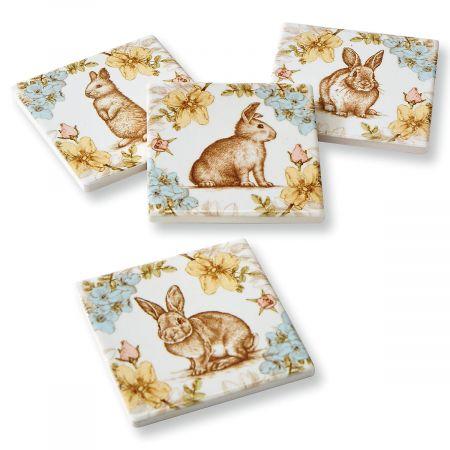 Rabbits & Flower Coasters