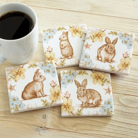 Rabbits & Flower Coasters