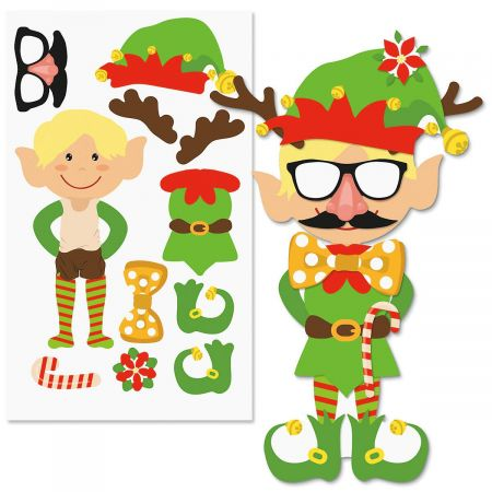 Decorate-Your-Own Elf Stickers