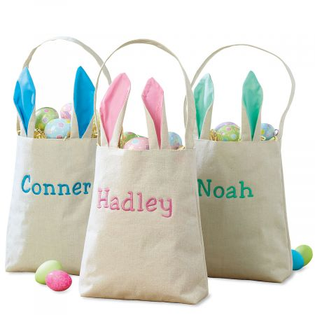 Kids Personalized Easter Tote with Ears