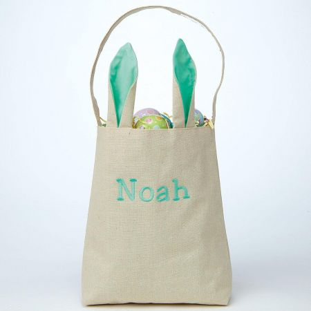 Green Easter Tote with Ears