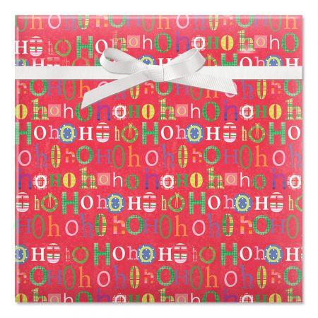 Fun Ho Ho Hos Rolled Gift Wrap