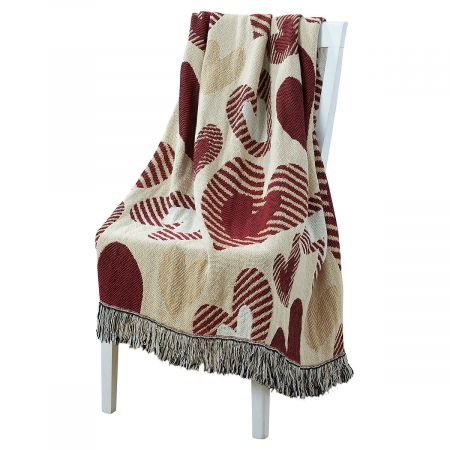 Heart Woven Throw by Current Catalog