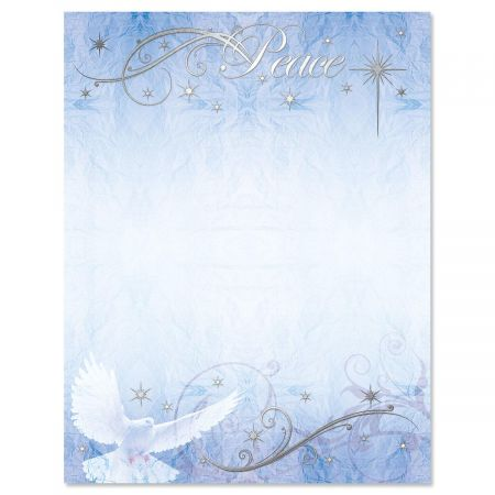 Peaceful Dove Deluxe Christmas Letter Papers