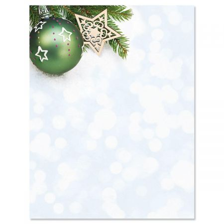 Glistening Pine Christmas Letter Papers