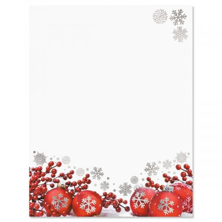 Dazzling Holiday Deluxe Christmas Letter Papers