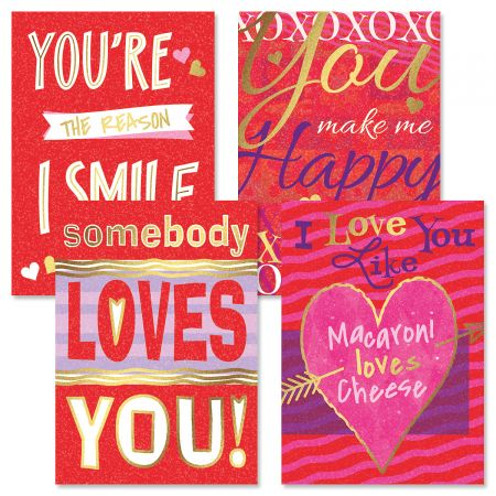 Deluxe Graphic Valentines Day Cards