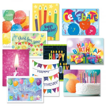 Graphic Birthday Cards Value Pack