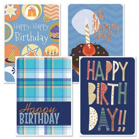 Denim & Plaid Birthday Cards and Seals