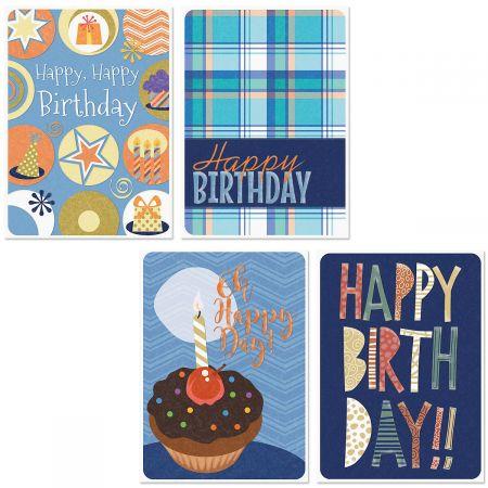 Denim & Plaid Birthday Cards