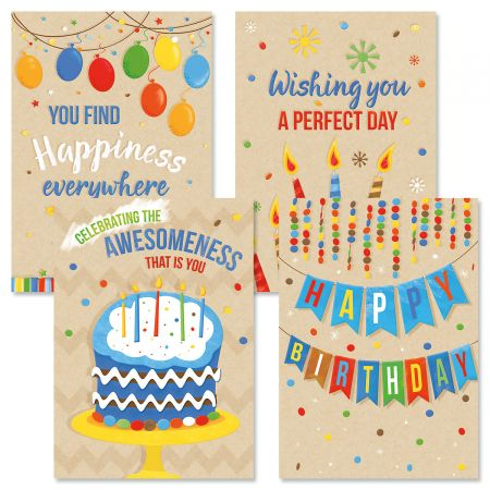 Kraft Birthday Cards
