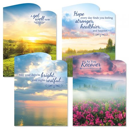 Diecut Sunrise Get Well Cards