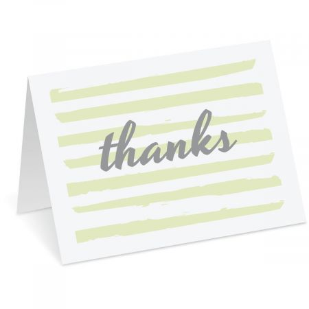 Stripes Thank You Note Cards