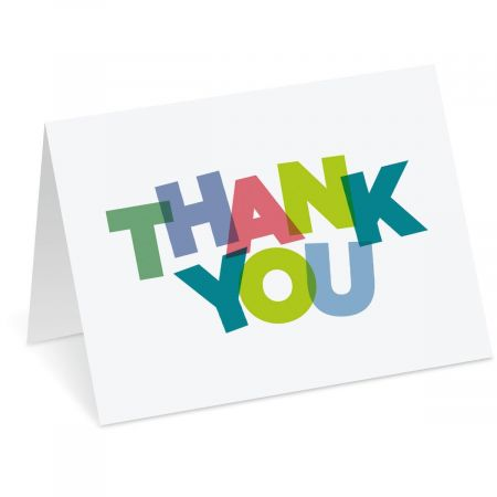 Bold Thank You Note Cards