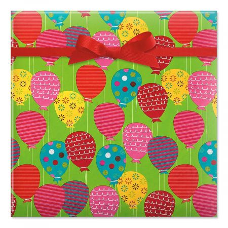 Colorful Balloons Jumbo Rolled Gift Wrap