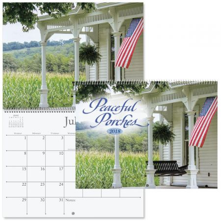 2018 Peaceful Porches Wall Calendars